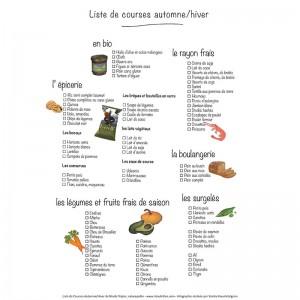 Infographie Liste de courses automne-hiver