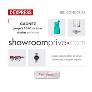 Emailing Showroom Privé